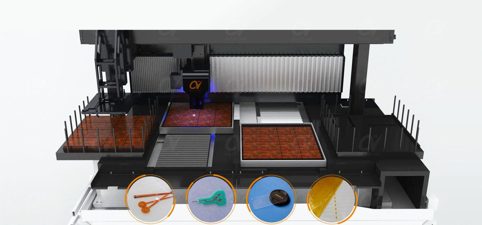Laser cutting machine for FPC, Coverlay, Thin glass, Precision medical parts